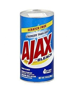 Ajax Powder Cleanser with Bleach 14oz (369g) pack of 24