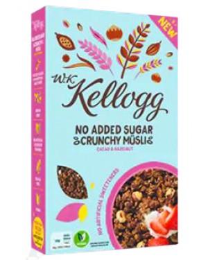 W.K. Kellogg No Added Sugar Granola Cocoa & Hazelnut 550g x 5