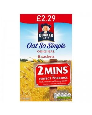 Quaker Oat So Simple Original PM £2.29 8 x 27g x 6