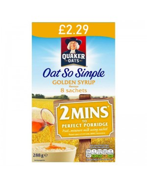 Quaker Oat So Simple Golden Syrup 288g - 8 Sachets PM £2.29 x 6