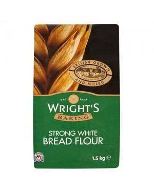 Wright's strong white bread flour 1.5Kg