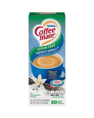 Nestle Coffee Mate Sugar Free French Vanilla Single Serve Liquid Creamer 0.375oz (11ml) 50s x 4