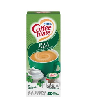 Nestle Coffee Mate Irish Creme Single Serve Liquid Creamer 0.375oz (11ml) 50s x 4