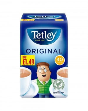Tetley Tea Bags 40s P.M £1.49 x 12