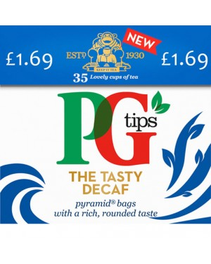 PG Tips Pyramid Teabags Decaf 35s PM £1.69 x 6