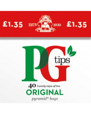 PG Tips Pyramid Teabags 40s p.m.£1.35 x 6