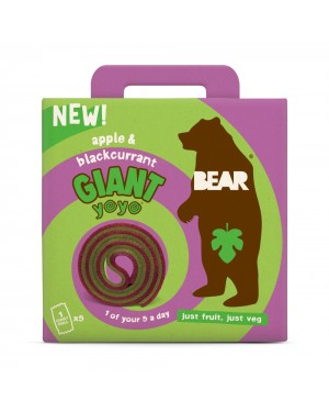 Bear Giant Yoyo Multipack Apple & Blackcurrant (5 x 20g) x 6