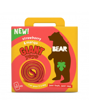 Bear Giant Yoyo Multipack Strawberry & Mango (5 x 20g) x 6