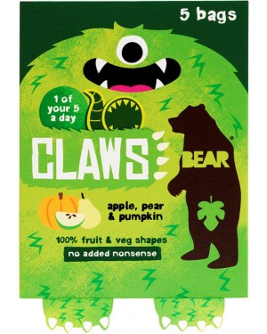 Bear Claws Multipack Apple, Pear & Pumpkin (5 x 18g) x 5