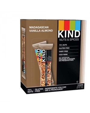 Kind Bars Madagascan Vanilla Almond 40g x 12
