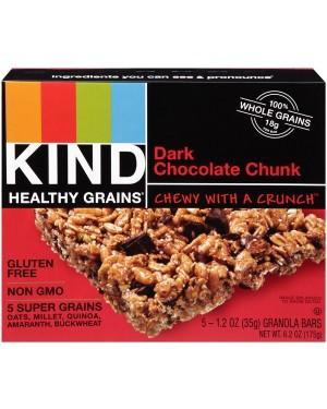 Kind Healthy Grains Dark Chocolate Chunk 1.2oz (35g) 5's x 8
