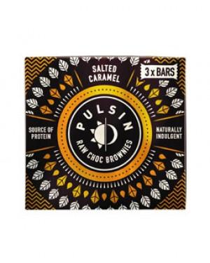Pulsin Raw Choc Brownie Salted Caramel & Peanut Multipack (35g x 3) x 12
