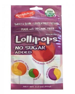 Koochikoo Organic Lollipops Pouch 2.2oz (62g) 10s X 8