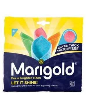 Marigold Let It Shine Knitted Microfibre 4 Cloths X 5