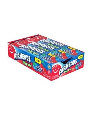 Airheads Blue Raspberry/Cherry Big Bar 1.5oz (42.5g) x 24