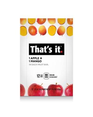 That's It Fruit Bar Apple Mango 1.2oz (35g) x 12