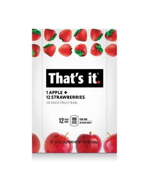 That's It Fruit Bar Apple Strawberry 1.2oz (35g) x 12