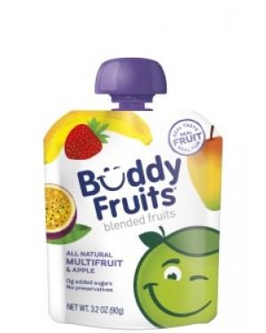 Buddy Fruits Pure Blended Apple & Multi-Fruit Snack 3.2oz (90g) x 18