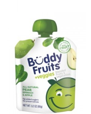 Buddy Fruits Veggies Apple Spinach & Pear Case 3.2oz (90g) x 18