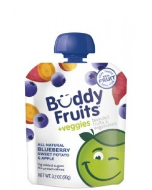Buddy Fruits Veggies Apple Sweet Potato & Blueberry 3.2oz (90g) x 18