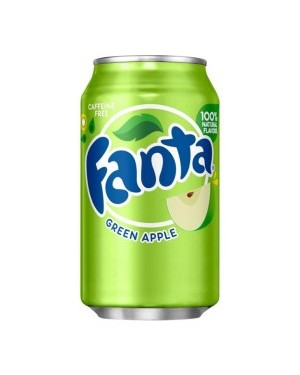 Fanta Green Apple Soda Can 12oz (355ml) x 12