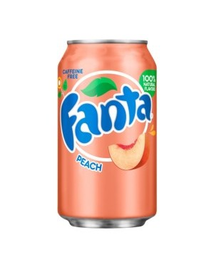 Fanta Peach Soda Can 12oz (355ml) x 12