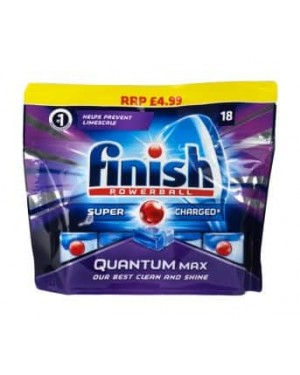 Finish Dishwasher Tablets Quantum Max PM £4.99 18s x 4