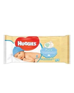Huggies Pure Baby Wipes 56s x 10