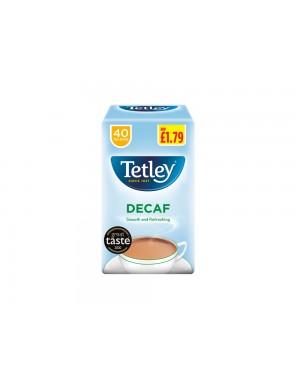 Tetley Tea Bags Decaf 40s PM £1.79 x 6