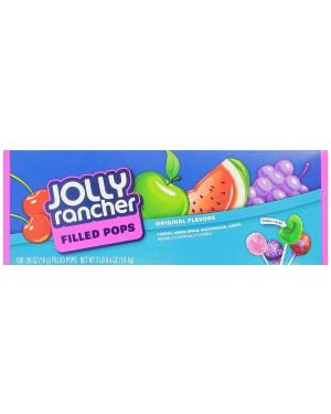Jolly Rancher Fruit Chews Pops Filled 3lb (1.58kg) 100's