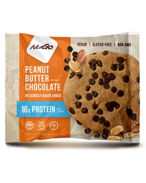 Nugo Protein Cookie Peanut Butter Chocolate 3.53oz (100g) x 12