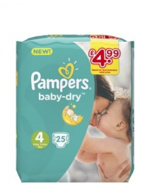 Pampers Size 4 PM £4.99 25's x 4