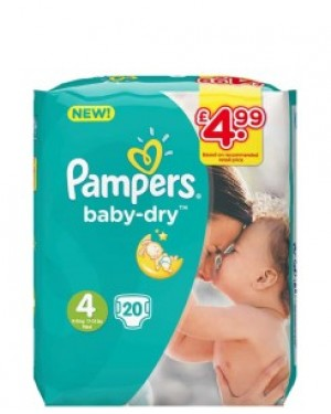 Pampers Size 4 PM £4.99 20's X 8