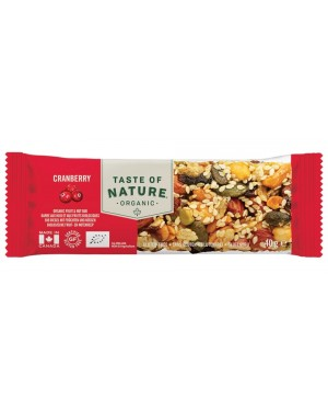 Taste of Nature Cranberry Organic 40g x 16