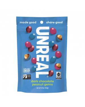 Unreal Candy Coated Dark Chocolate Peanuts Bag 5oz (142g) x 6