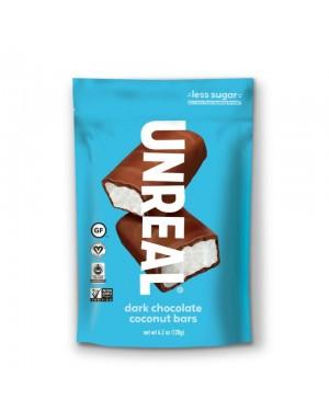 Unreal Candy Dark Chocolate Coconut Bars 4.2oz (120g) x 6