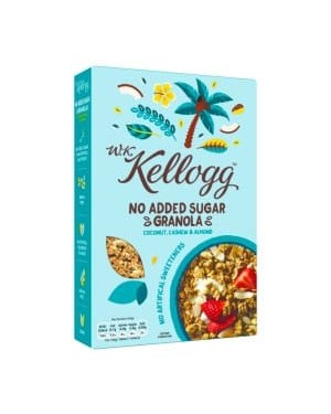W.K. Kellogg No Added Sugar Granola Coconut, Cashew & Almond 570g x 5