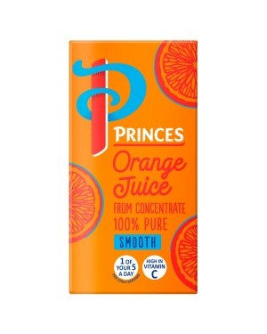 Princes Orange Juice Smooth 200ml pk 24