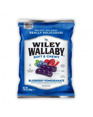 Wiley Wallaby Blueberry Pomegranate Liquorice 7.05oz (200g) x 12